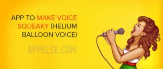 app to make voice squeaky (helium balloon voice)