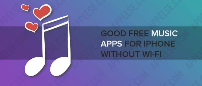 Good free music apps for iPhone without Wi-Fi